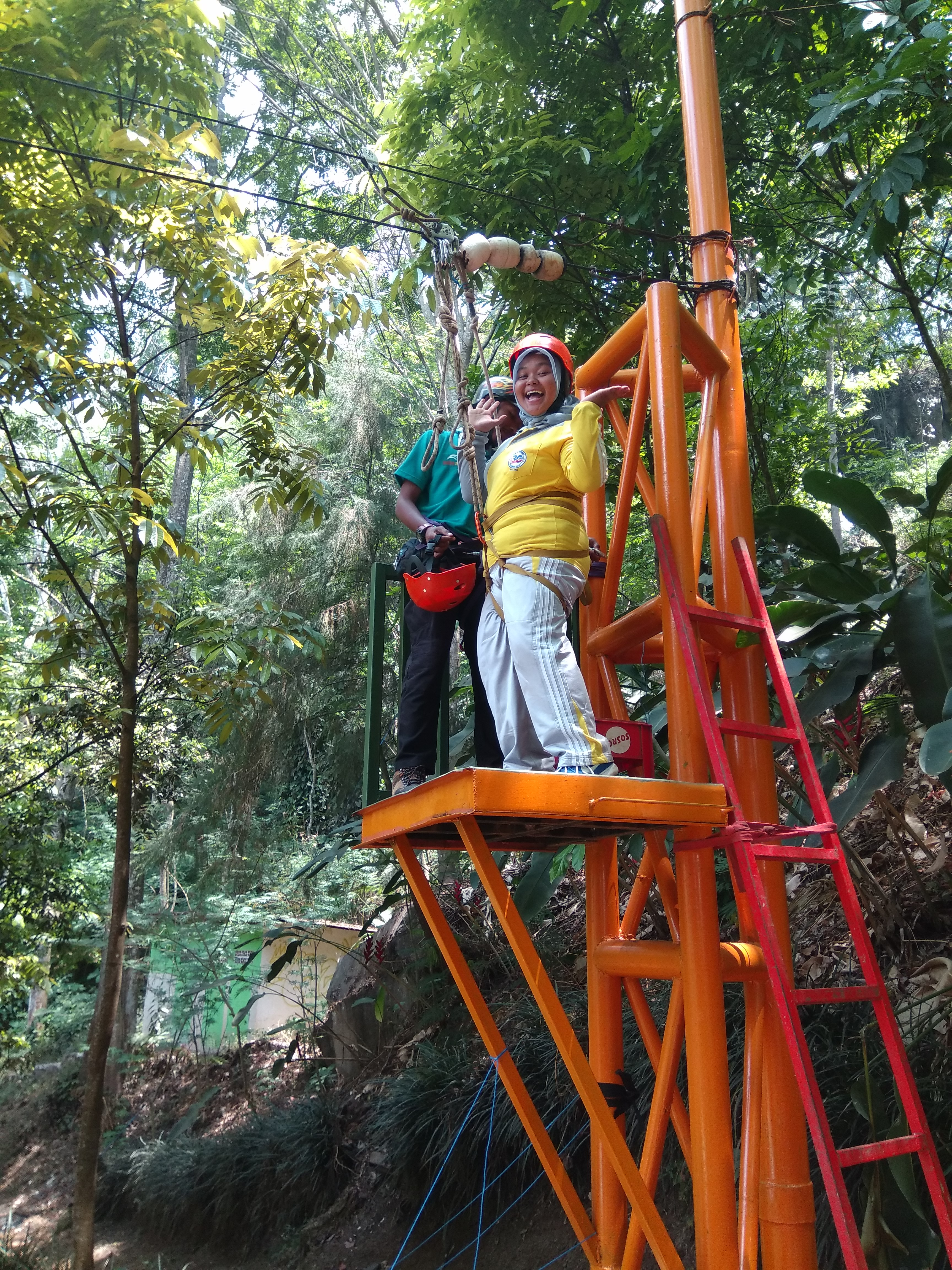 Persiapan Flying Fox